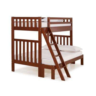 Aurora Chestnut  Twin Over Full Bunk Bed