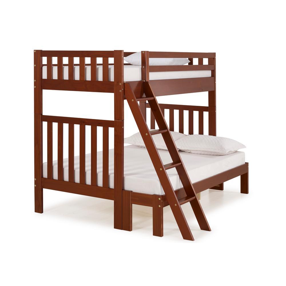 Alaterre Furniture Aurora Chestnut Twin Over Full Bunk Bed AJAU0170
