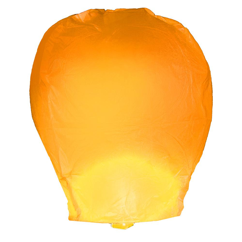 Orange Sky Lanterns (Set of 4)