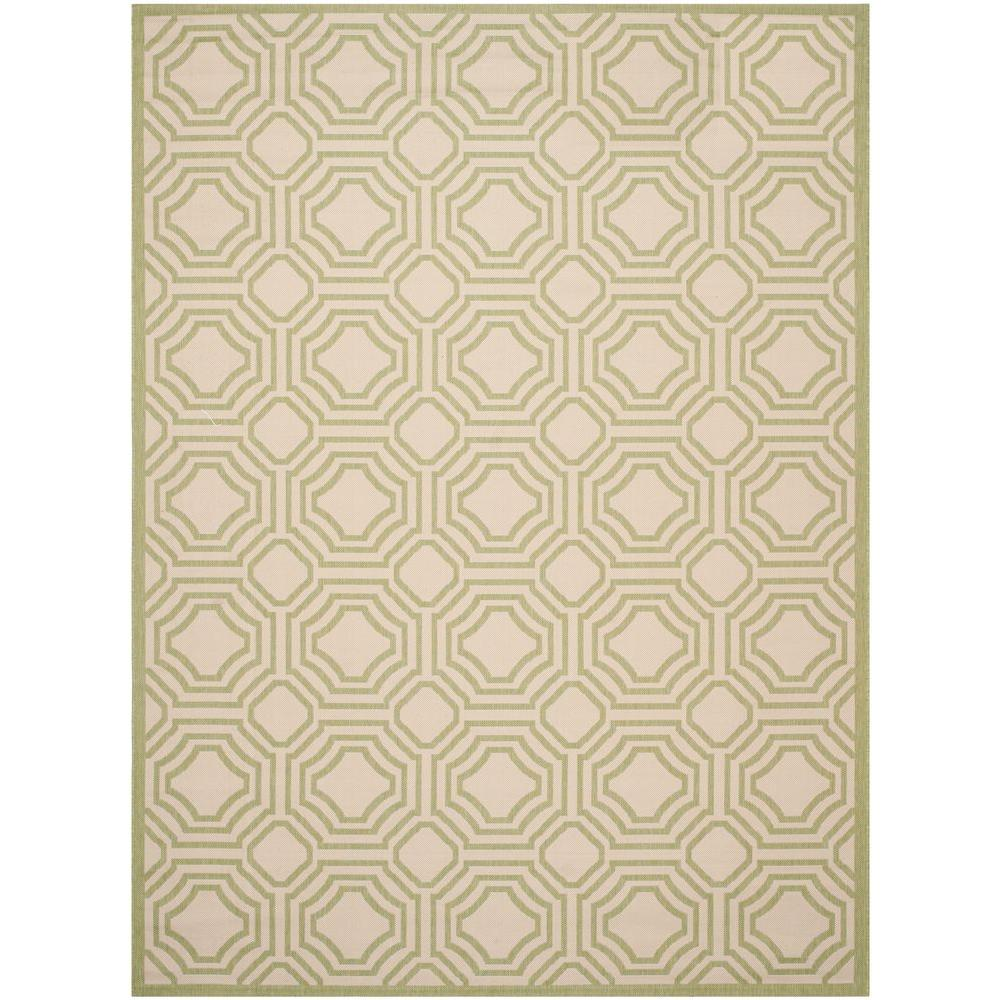 Safavieh Courtyard Beige/Sweet Pea 8 ft. x 11 ft. Indoor/Outdoor Area Rug