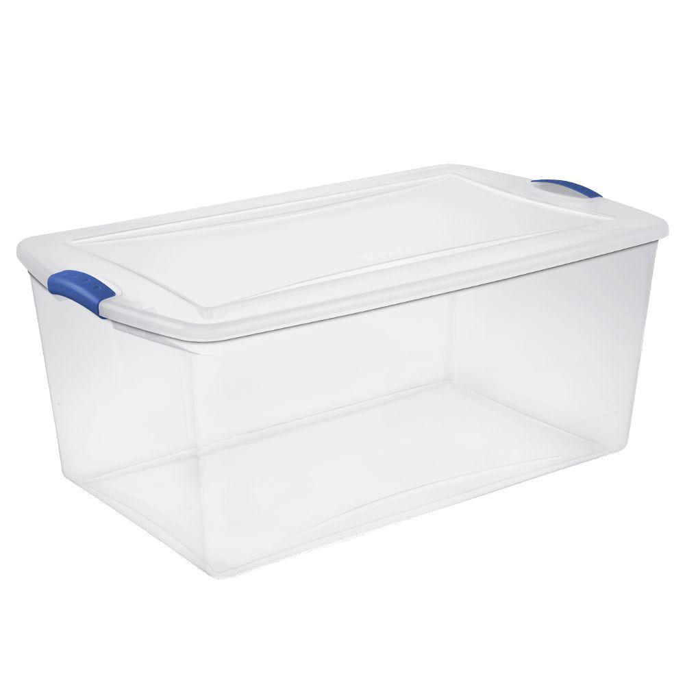 Clear Storage Bins & Totes Storage & Organization