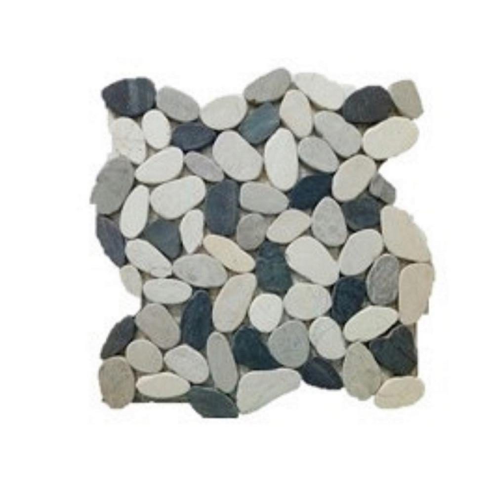 Honed Sliced Pebble Floor And Wall Tile