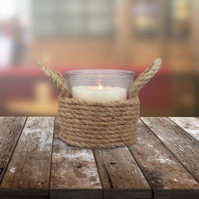 Natural Glass Candle Holder