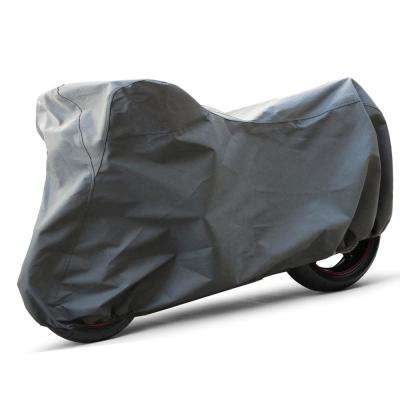 Economy Polyproplene 106 in. x 56 in. x 55 in. Medium Outdoor Motorcycle Cover