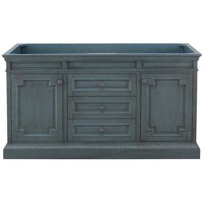 Cailla 60 in. W x 21.50 in. D Bath Vanity Cabinet Only in Distressed Blue Fog