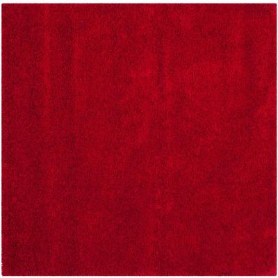 Milan Shag Red 5 ft. x 5 ft. Square Area Rug