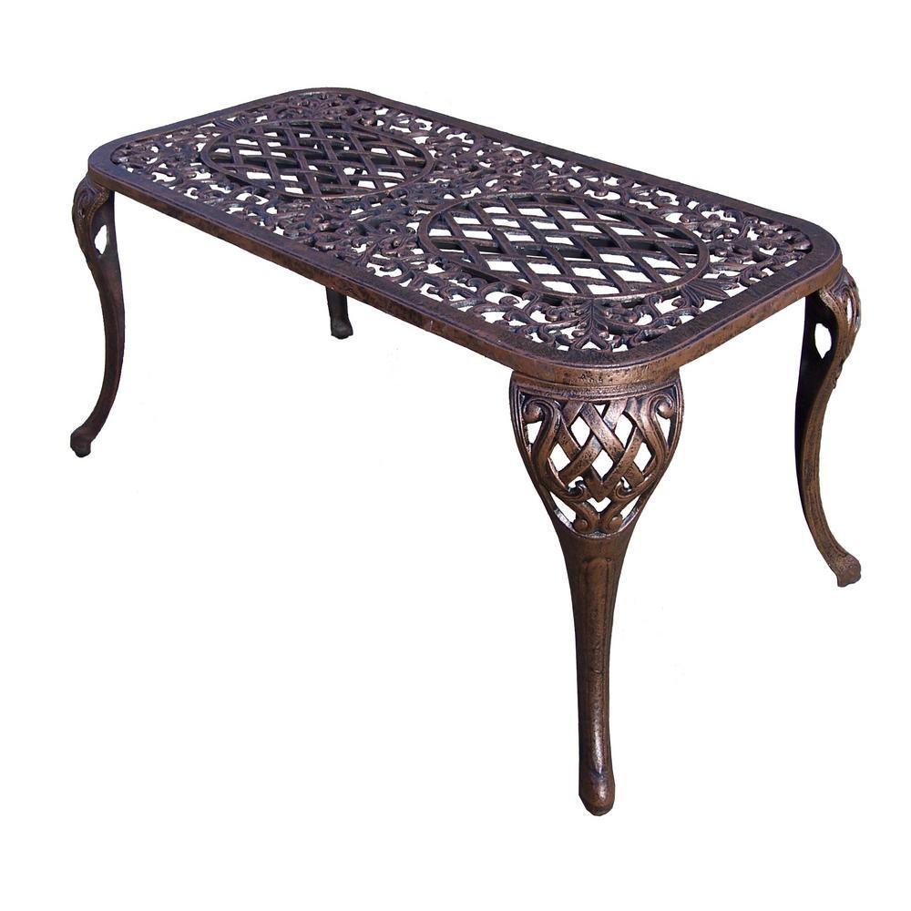 Mississippi Antique Bronze Aluminum Outdoor Coffee Table