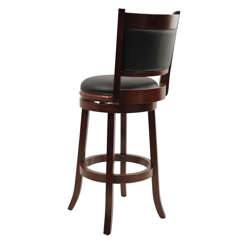 Strange Augusta 29 In Cherry Swivel Cushioned Bar Stool Machost Co Dining Chair Design Ideas Machostcouk