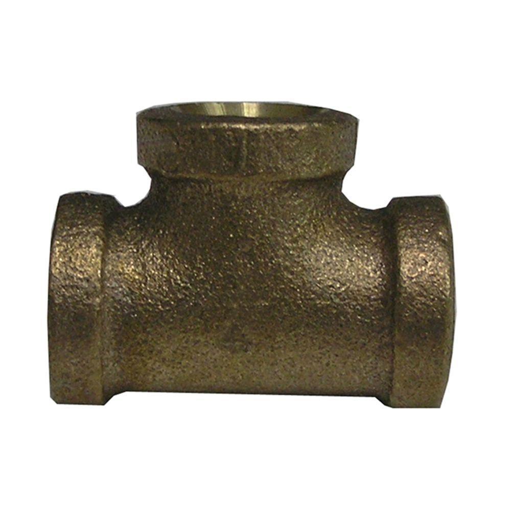 Lead-Free Brass Pipe Tee 3/4 in. FIP