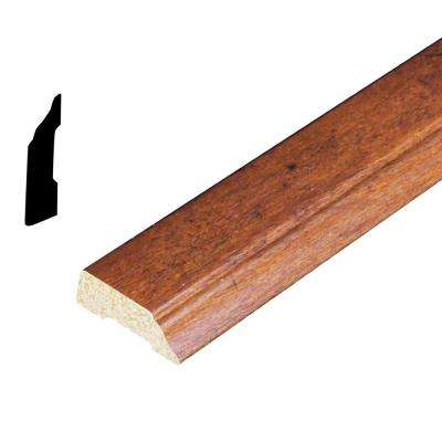 3/8 in. x 1-5/16 in. x 84 in. Polystyrene Whiskey Maple Stop Moulding (Pack of 5)