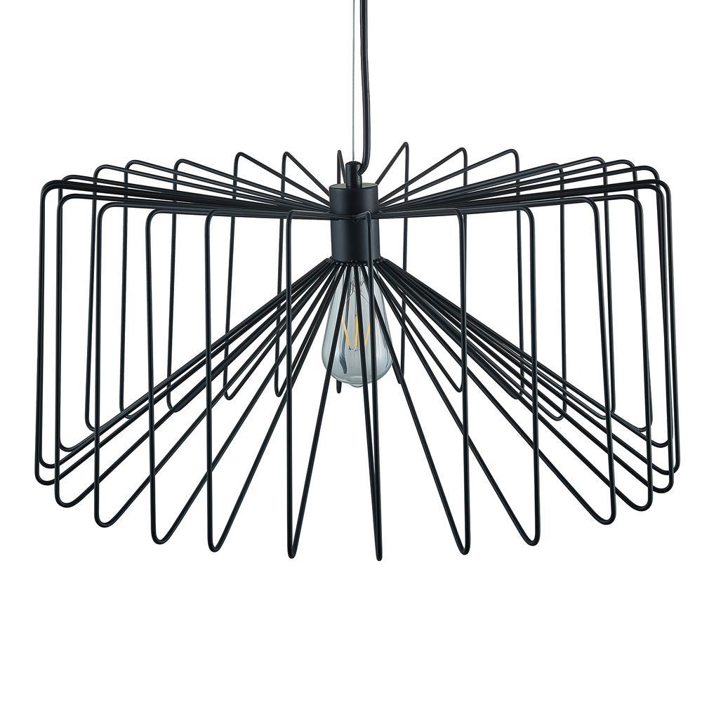 Southern Enterprises Pepe 1-Light Black Pendant Lamp was $149.99 now $45.19 (70.0% off)