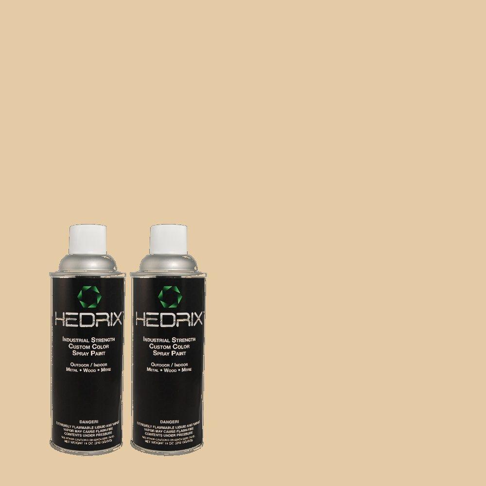 Hedrix 11 oz. Match of MQ2-8 Irish Cream Low Lustre Custom Spray Paint (8-Pack)