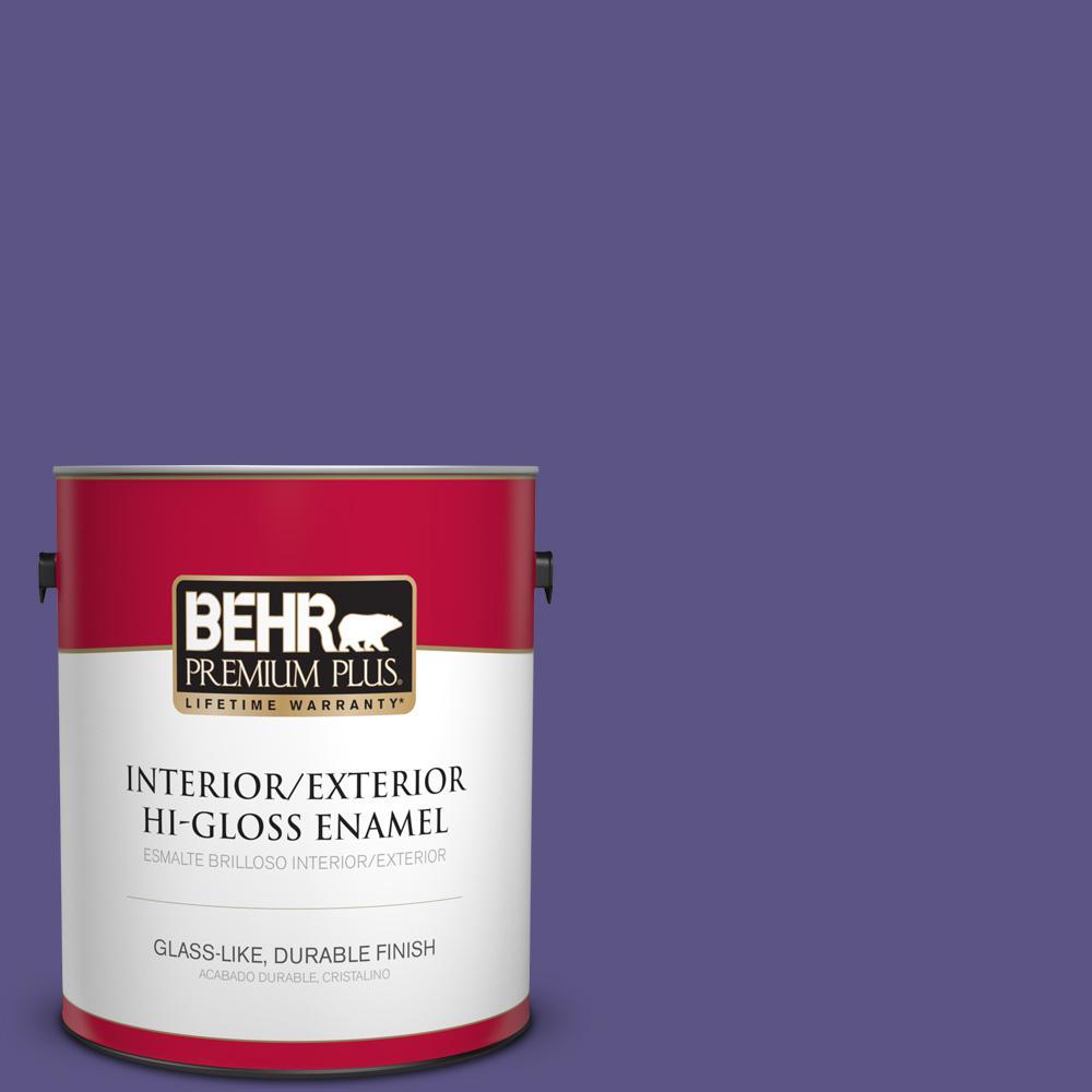 1 gal. #PPU16-01 Aurora Splendor Hi-Gloss Enamel Interior/Exterior Paint