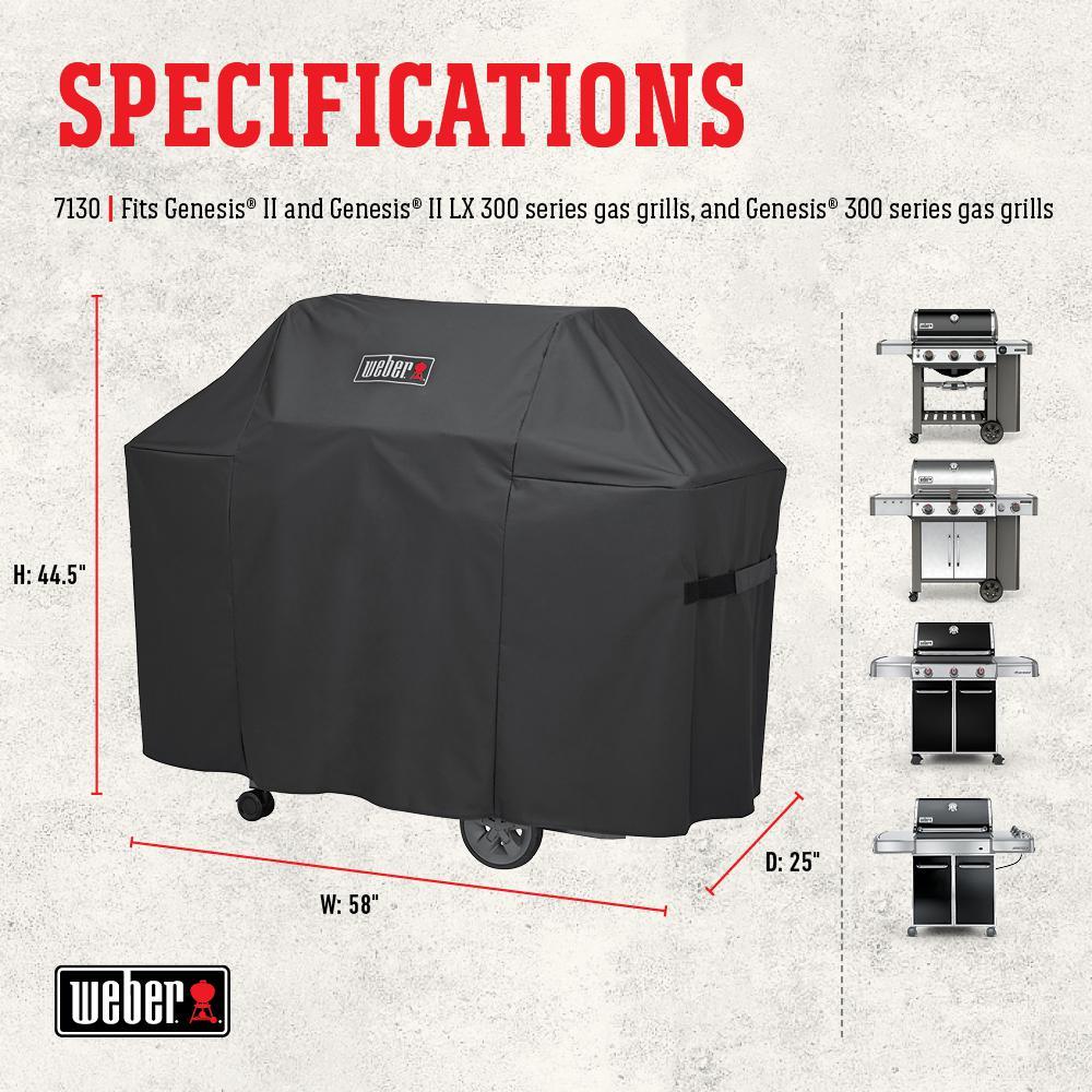 Weber 7130 Grill Cover For Weber Genesis II /& Genesis II LX300 Series Gas Grills