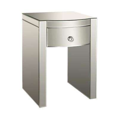 Bow Front 3-Drawer Mirrored Chest