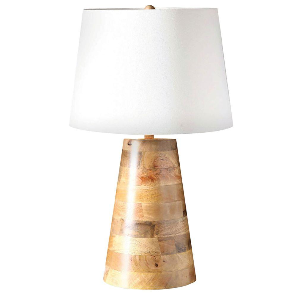 Renwil irpa 24 in mango wood table lamp lpt567 the home depot mango wood table lamp geotapseo Choice Image