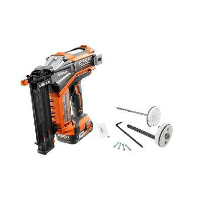 18-Volt Cordless Brushless 18-Gauge 2-1/8 in. Brad Nailer, 2.0 Ah Battery, Charger, Belt Clip, Bag, and Maintenance Kit