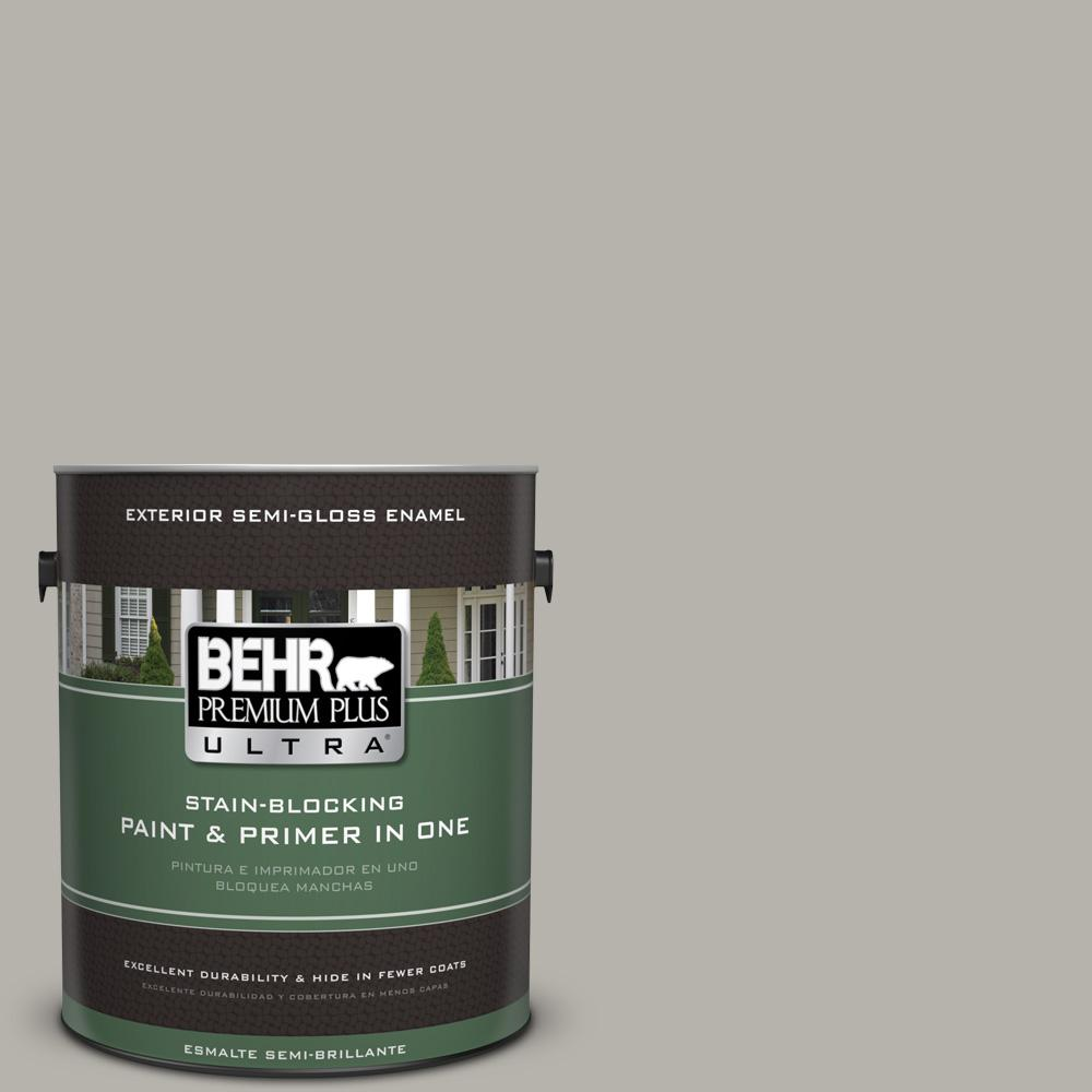 1 gal. #PPU25-07 Arid Plains Semi-Gloss Enamel Exterior Paint