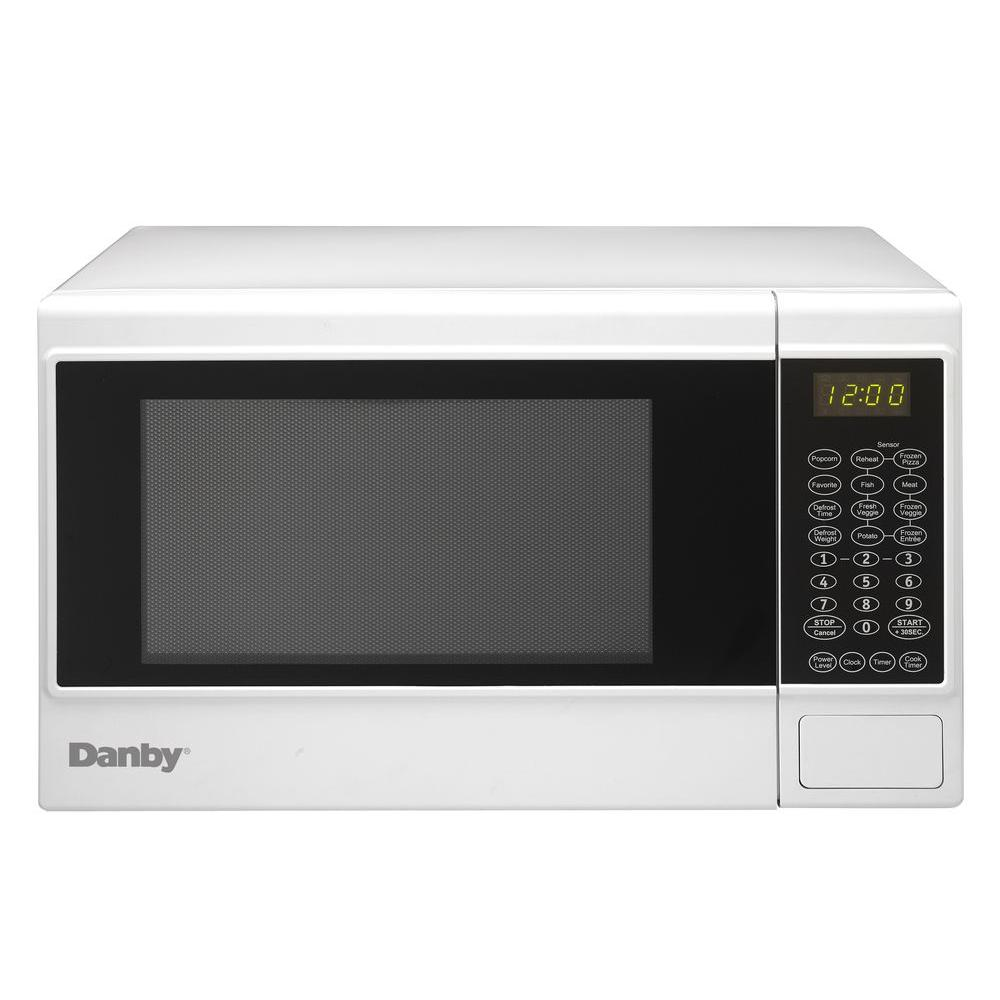 1.4 cu. ft. Countertop Microwave in White