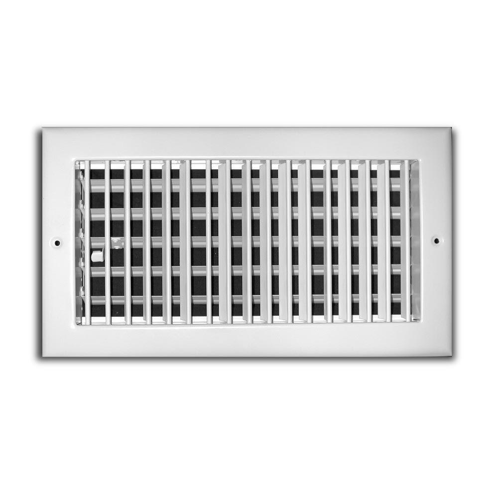 TruAire 8 in. x 4 in. 1 Way Aluminum Adjustable Wall/Ceiling Register