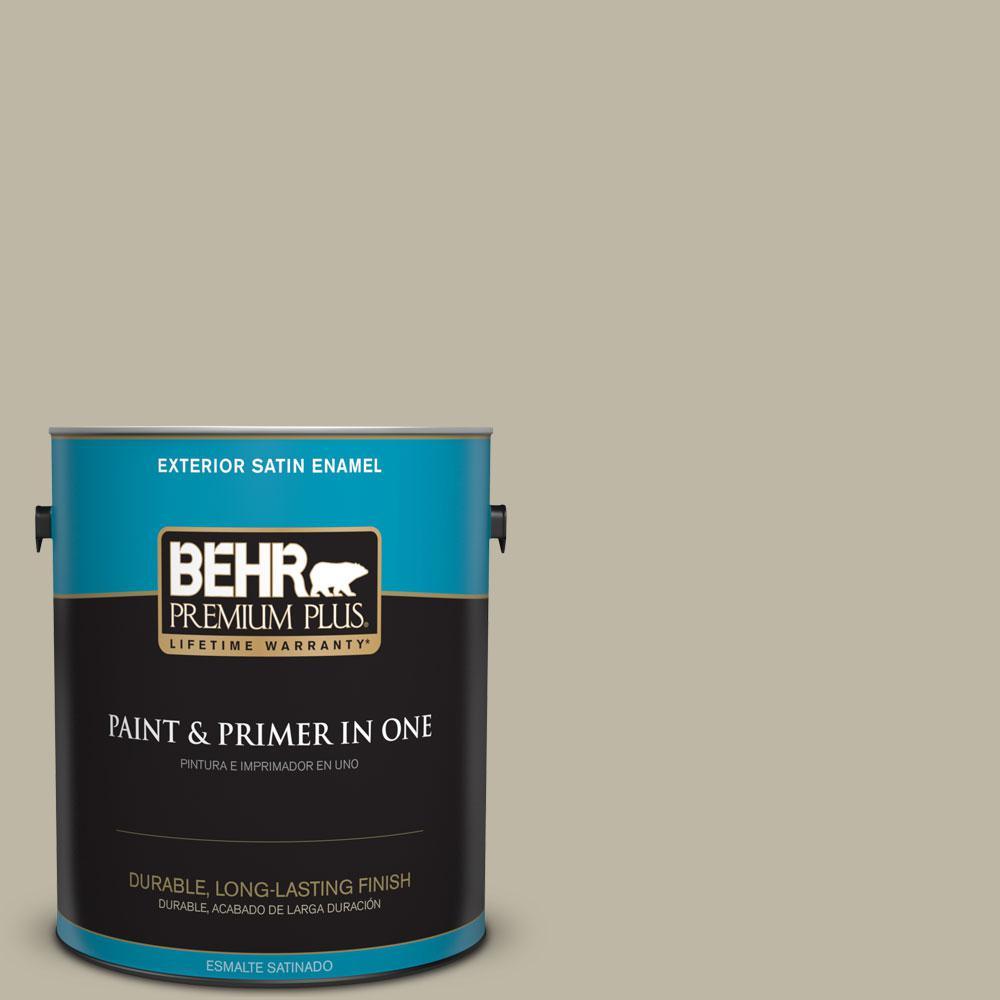 BEHR Premium Plus 1-gal. #780D-4 Koala Bear Satin Enamel Exterior Paint