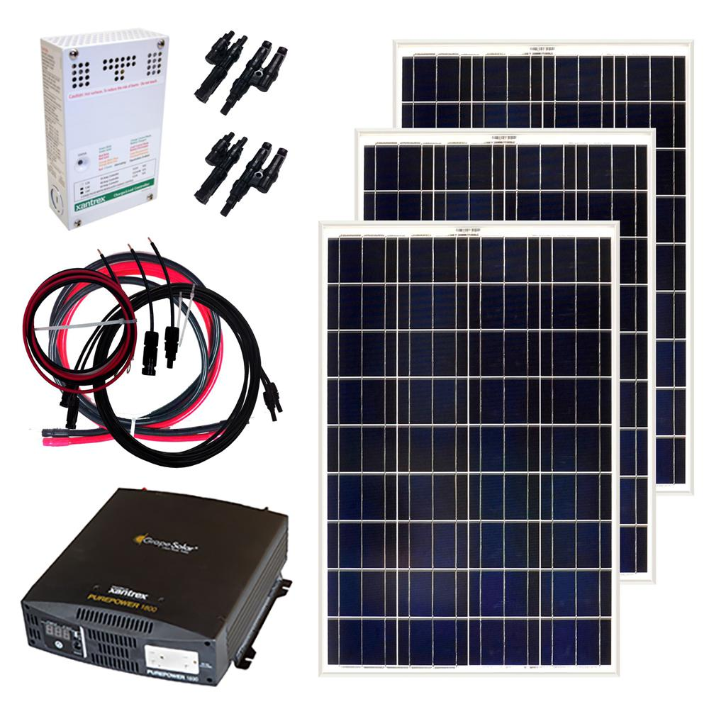 Grape Solar 300 Watt Off Grid Solar Panel Kit Gs 300 Kit