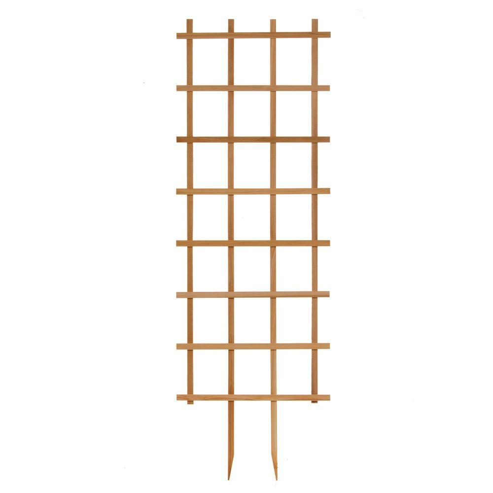 24 in. W x 72 in. H Wood Rectangle Trellis