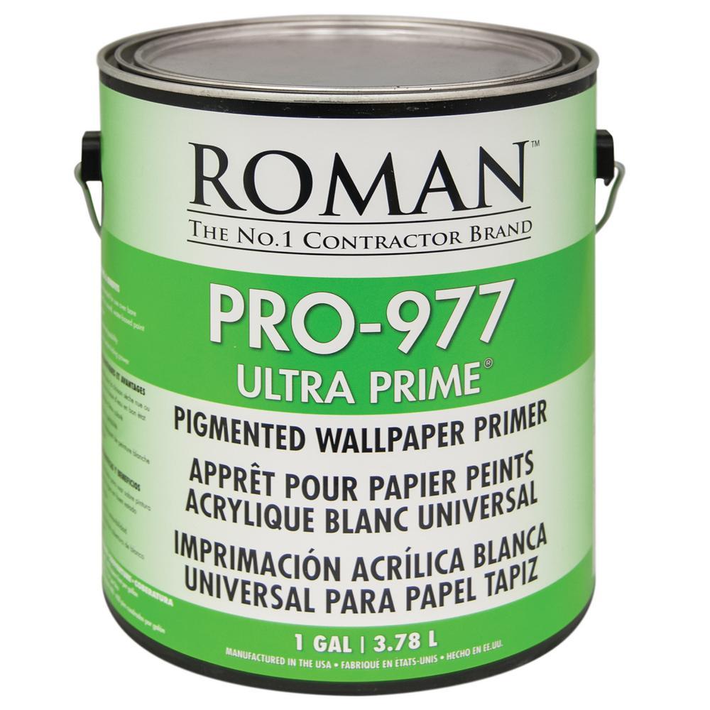 Roman PRO-977 Ultra Prime 1 gal. Interior and Exterior Wallcovering Primer/Sealer