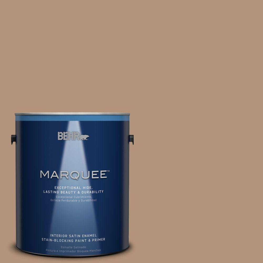 1-gal. #HDC-FL14-6 Gingerbread Latte Satin Enamel Interior Paint