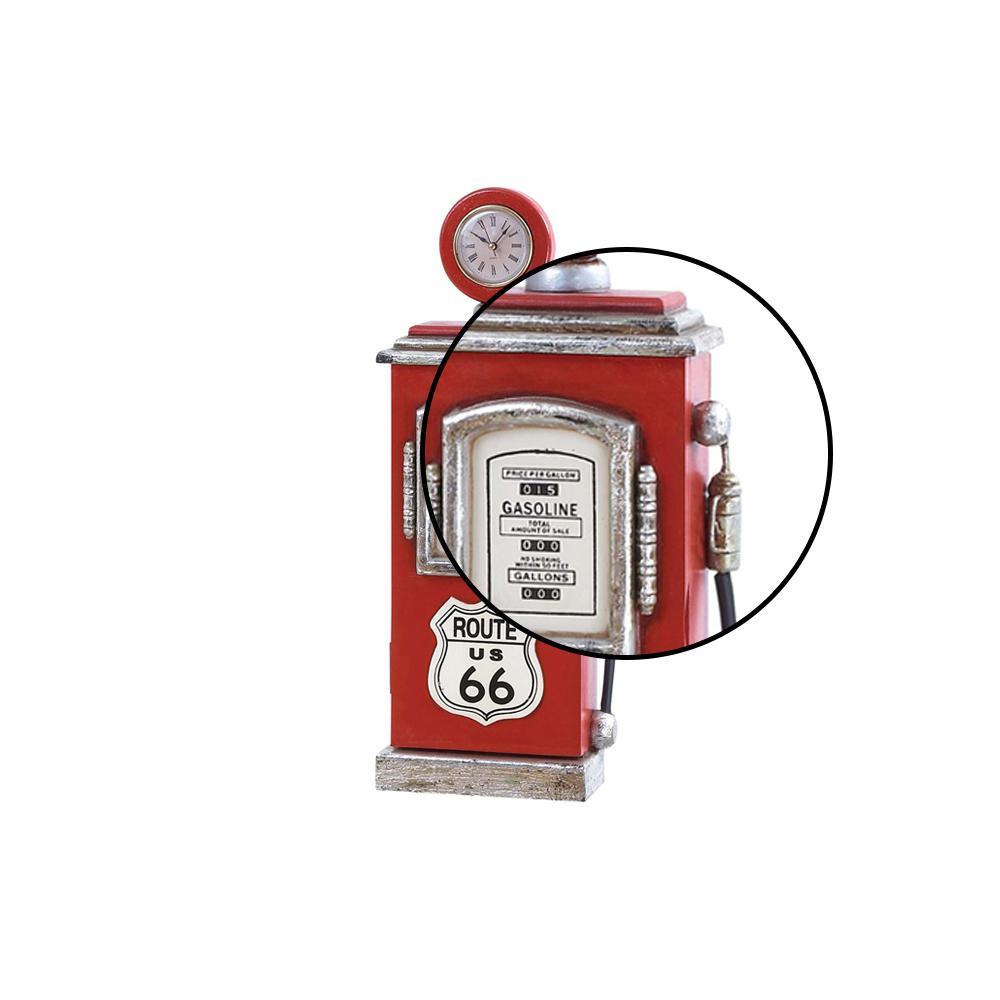 Red Gas Pump Design Table Clock