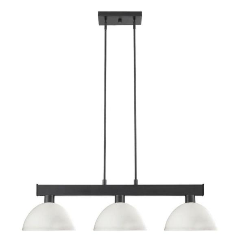Filament Design 3 Light Matte Black Billiard Light With Matte Opal Glass Shade Hd Te48732 The Home Depot