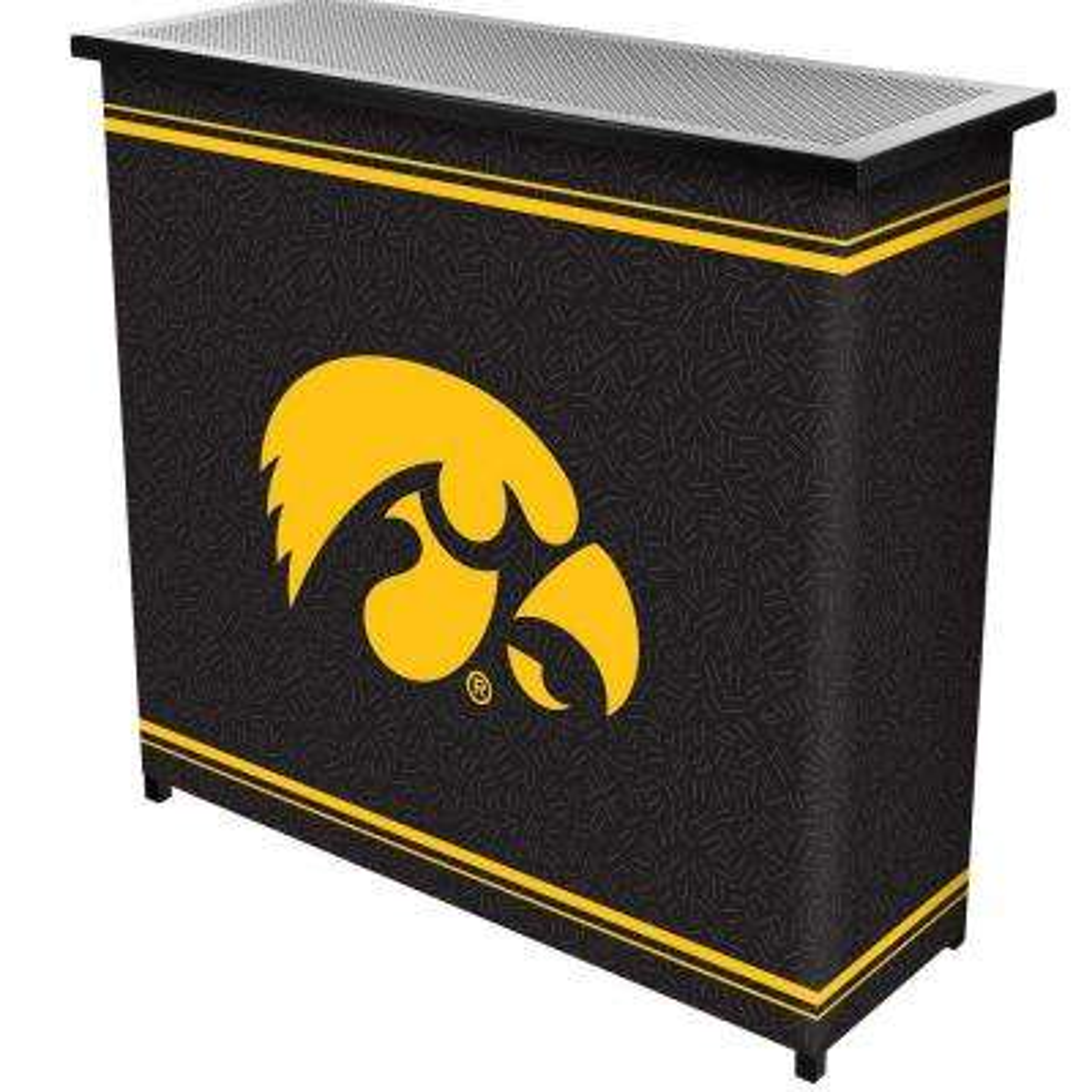 University of Iowa 2-Shelf Black Bar with Case