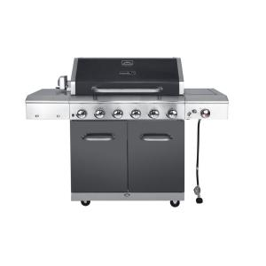 Click here to buy Nexgrill Deluxe 6-Burner Propane Gas Grill in Slate with Ceramic Searing Side Burner by Nexgrill.