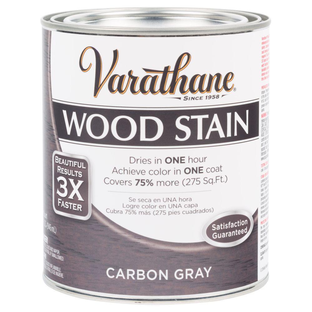 1 qt. 3X Carbon Gray Premium Wood Stain (Case of 2)