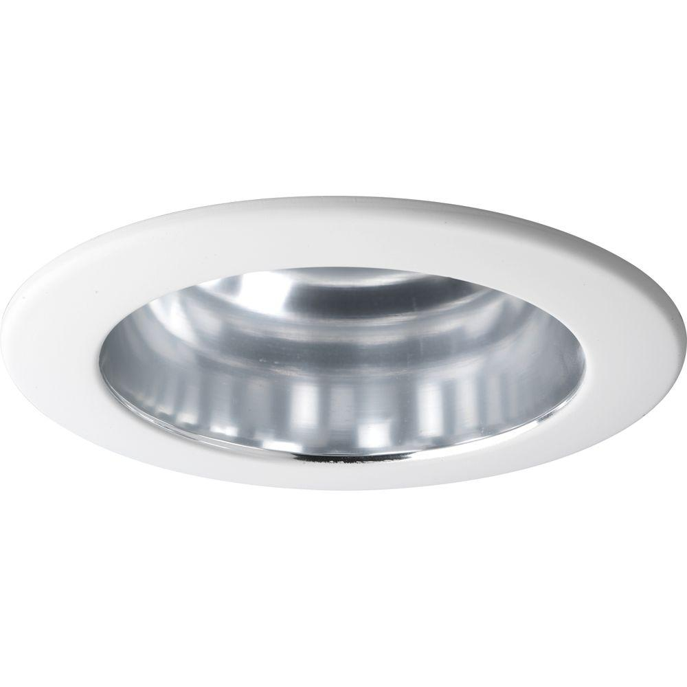 Progress Lighting 4 In Clear Alzak Recessed Reflector Trim
