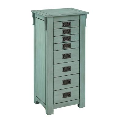 Wagner Jewelry Armoire Teal