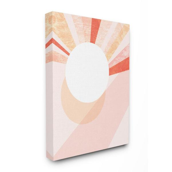 The Stupell Home Decor Collection 30 In X 40 In Peach Mod Stone Texture Geometric Suns Rising By Daphne Polselli Canvas Wall Art Mwp 548 Cn 30x40 The Home Depot