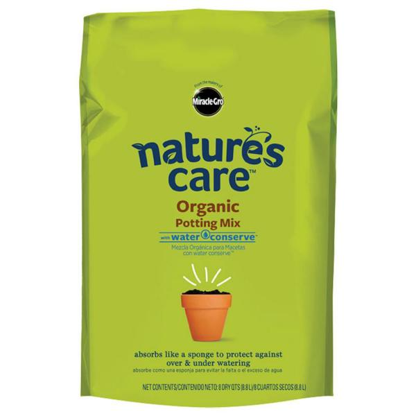 8 Qt. Nature's Care Organic Potting Mix with Water Conserve