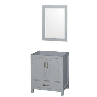 Sheffield 30 in. Vanity Cabinet with Mirror in Gray