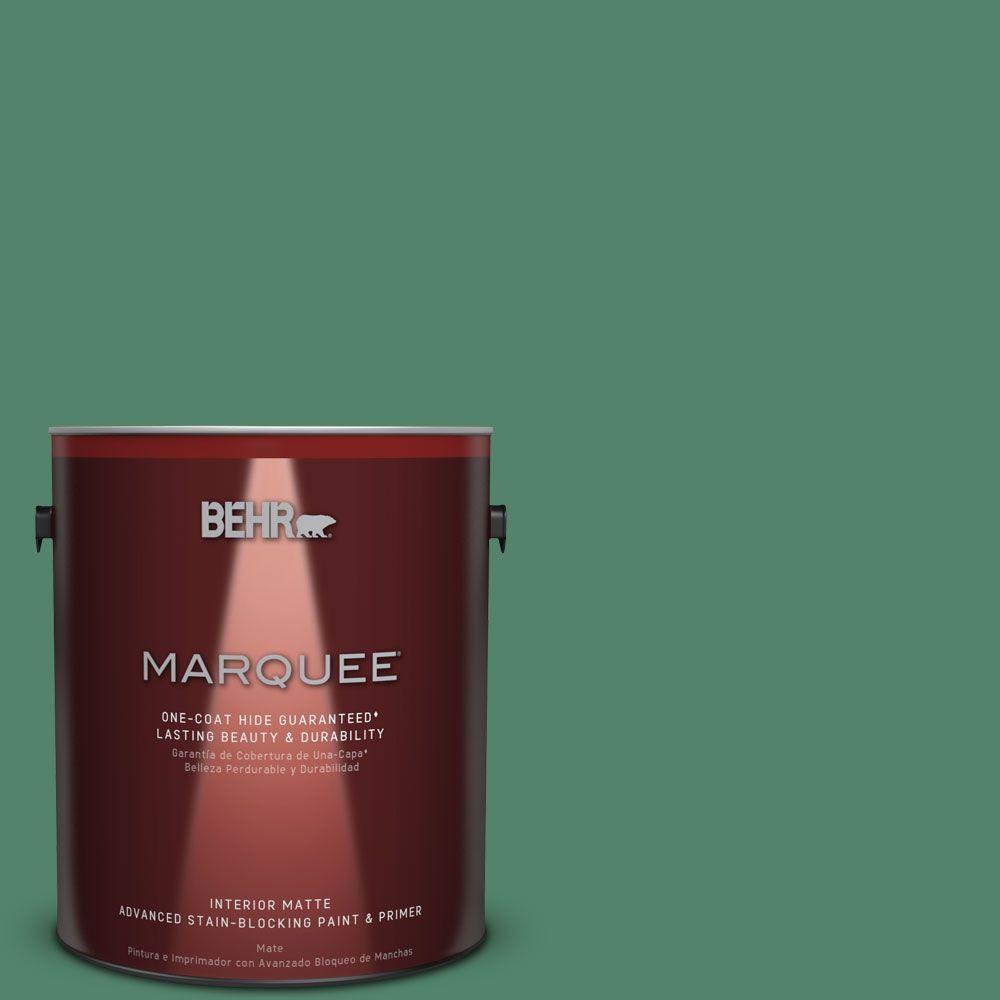 1 gal. #M420-6 Tournament Field One-Coat Hide Matte Interior Paint