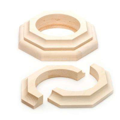 4 in. Dia Maple Cap and Base Set
