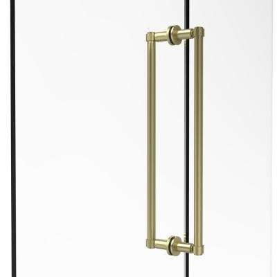 Contemporary 18 in. Back-to-Back Shower Door Pull in Satin Brass