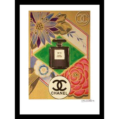 """20 in x 16 in"" ""Oragami"" Vintage Chanel Ad by Fairchild Paris Framed Printed Wall Art"