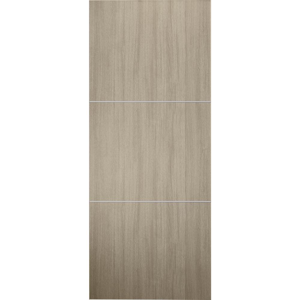 Viola 2h Shambor Finished With Aluminum Strips Solid Core Composite Interior Door Slab No Bore