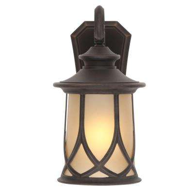 Resort Collection 1-Light Aged Copper Outdoor 10.5 in. Wall Lantern