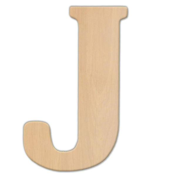 23 in. Oversized Unfinished Wood Letter (J)