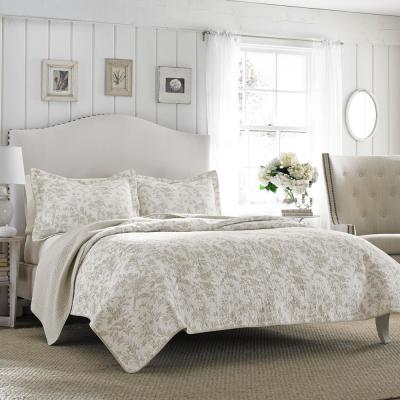 Amberley 3-Piece Grey King Quilt Set