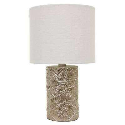 Rose 18.5 in. Gold Table Lamp with Linen Shade
