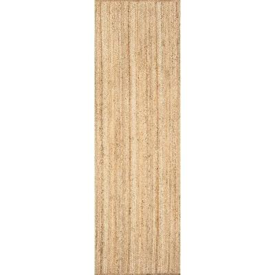 Rigo Chunky Loop Jute Tan 3 ft. x 12 ft. Runner