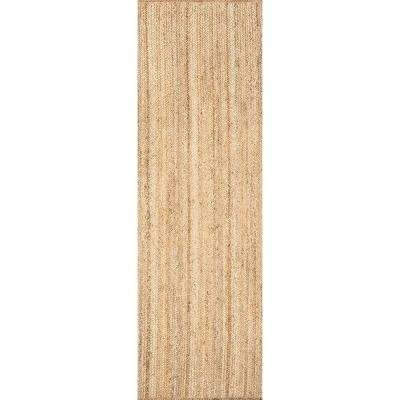 Rigo Jute Natural 2 Ft 6 In X 12 Ft Runner Rug